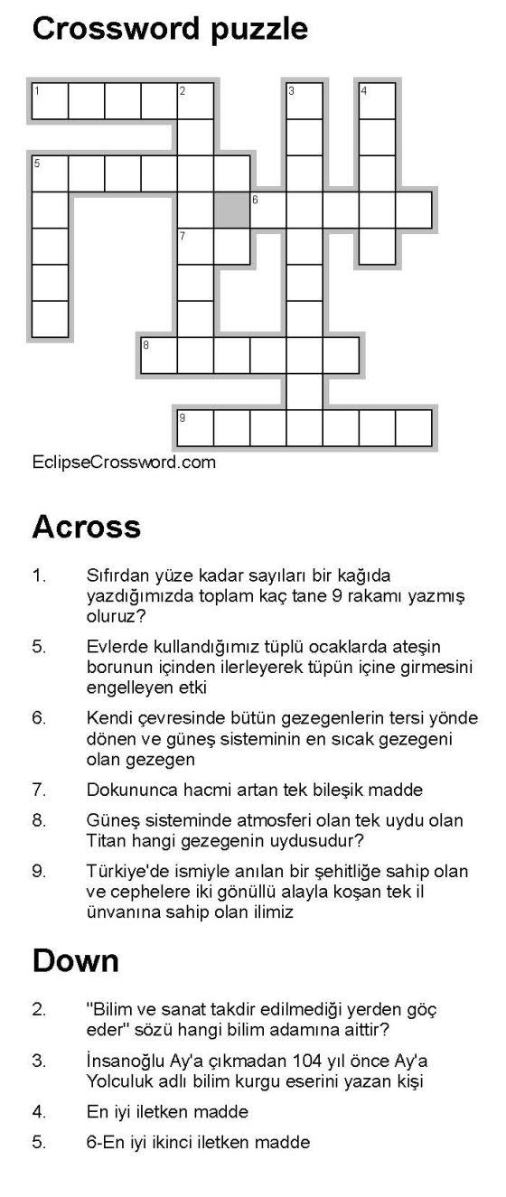 Eclipse Crossword Programı Ile Bulmaca Hazırlama Videosu Orijinal